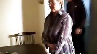 The doctor gives granny a very thorough vagina exam, he also examines her tits and mouth as well..