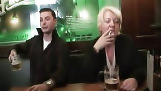 Drunk mom fucked by two guys after the bar