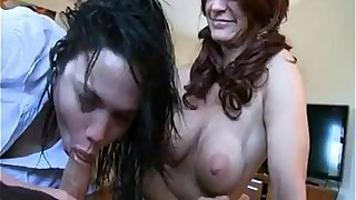 Daughter fucks dad and mom watching sex