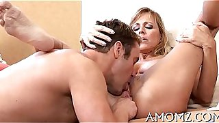 Mommy receives her anal creampied