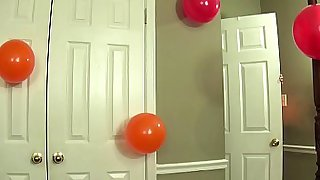 MILF Fifi Strip Tease for Son's Birthday