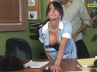 the cleaner is a hot mother with big tits
