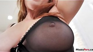 Redhead mom fucks her only son WTF