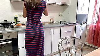 Russian fuck on kitchen