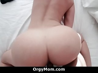 Step Mom Allows Her Son To Play With Her Boobs