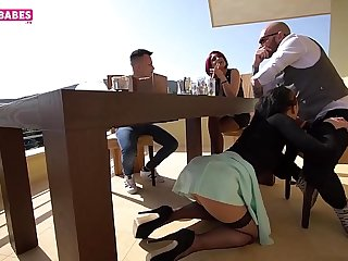 SUGARBABESTV :  MY dad fuck my girlfriend front of my step mom trailer